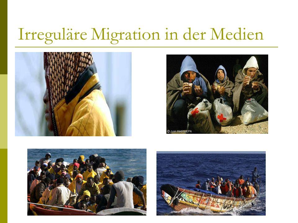 Irreguläre Migration in der Medien