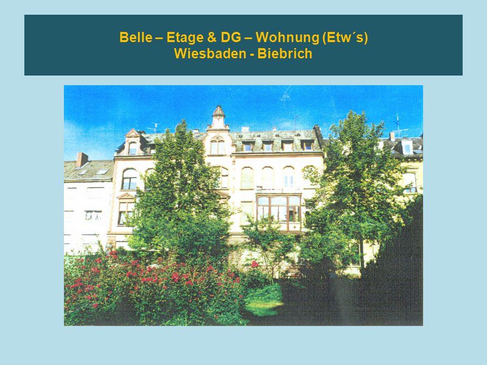 Wiesbaden – Nähe Lahnstrasse 3 ZKBB – Eigentumswohnung Mit Wintergarten