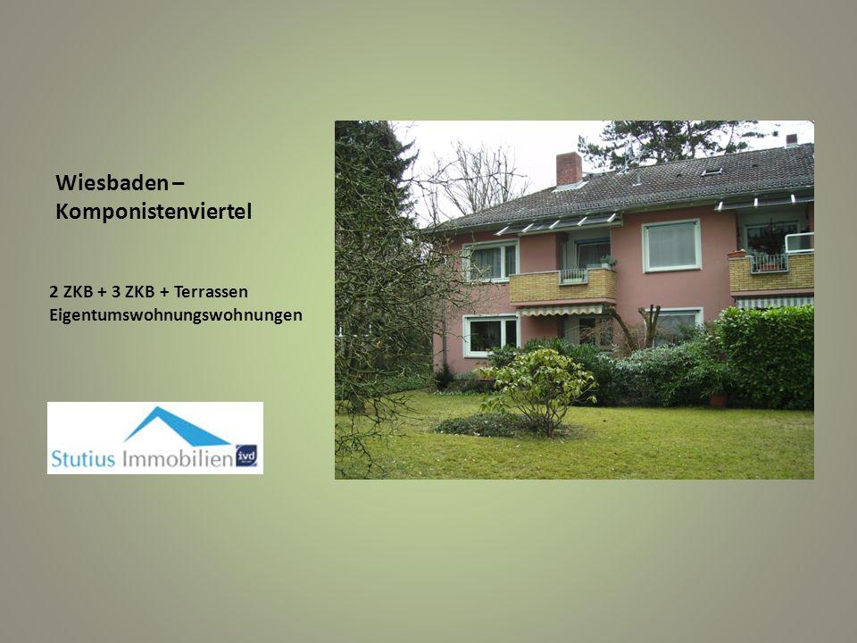 Wiesbaden – Komponistenviertel 2 ZKB + 3 ZKB + Terrassen Eigentumswohnungswohnungen