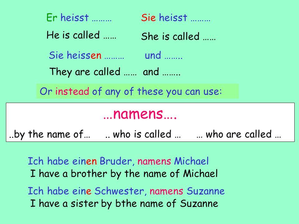 Family Ich bin Einzelkind Ich habe einen Bruder Ich habe eine Schwester Ich habe (zwei/drei) Brüder Ich habe (zwei/drei) Schwestern I have a sister Im