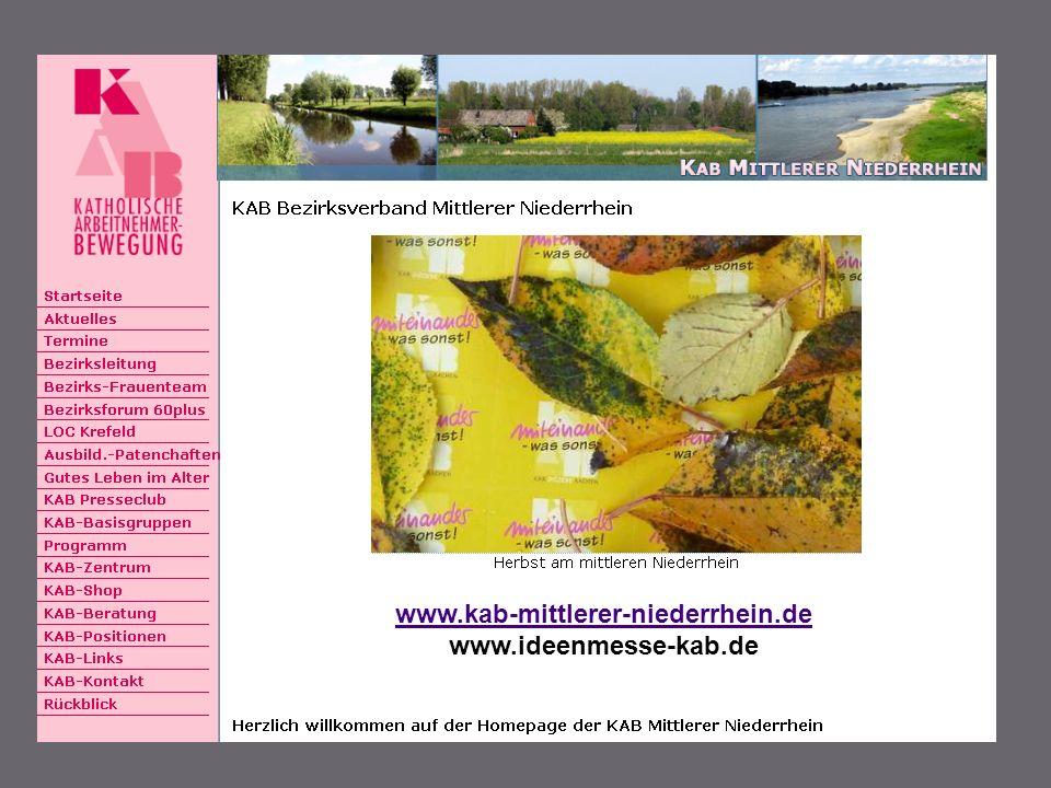 www.kab-mittlerer-niederrhein.de www.kab-mittlerer-niederrhein.de www.ideenmesse-kab.de