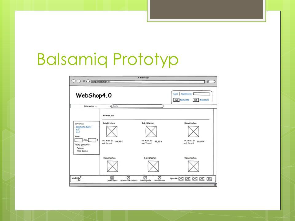 Entwurf Photoshop Prototyp