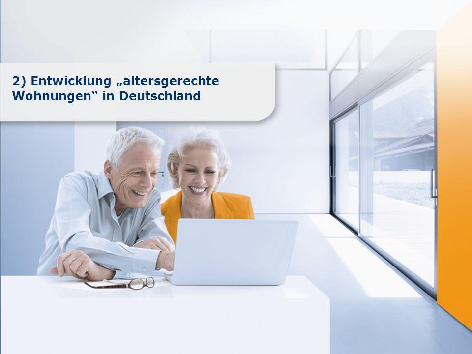www.immobilienscout24.de 2) Entwicklung altersgerechte Wohnungen in Deutschland