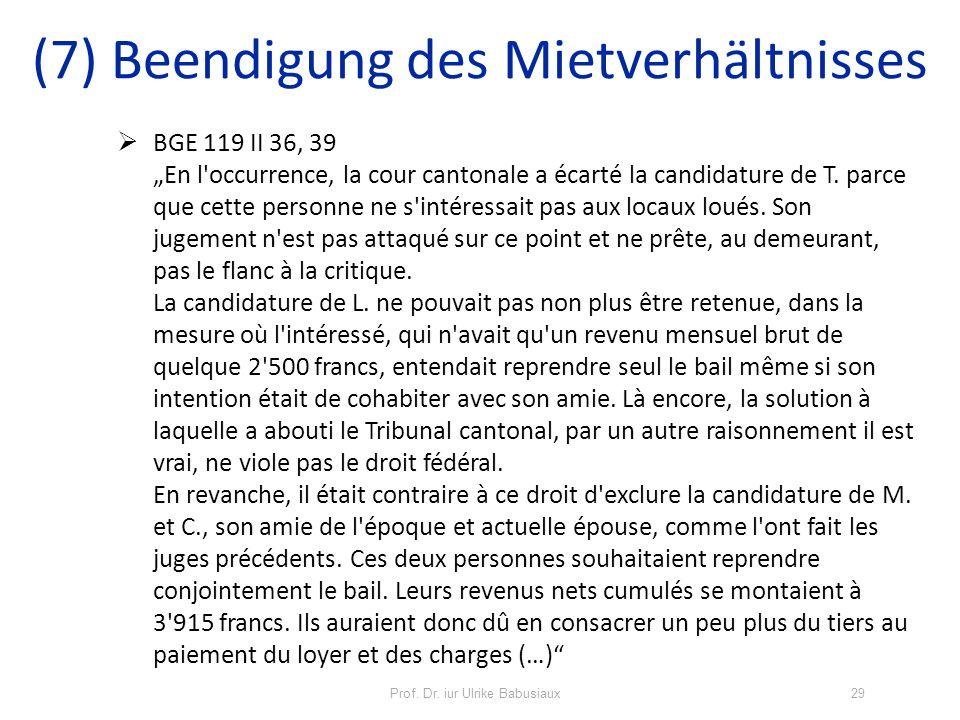 Prof. Dr. iur Ulrike Babusiaux29 BGE 119 II 36, 39 En l'occurrence, la cour cantonale a écarté la candidature de T. parce que cette personne ne s'inté