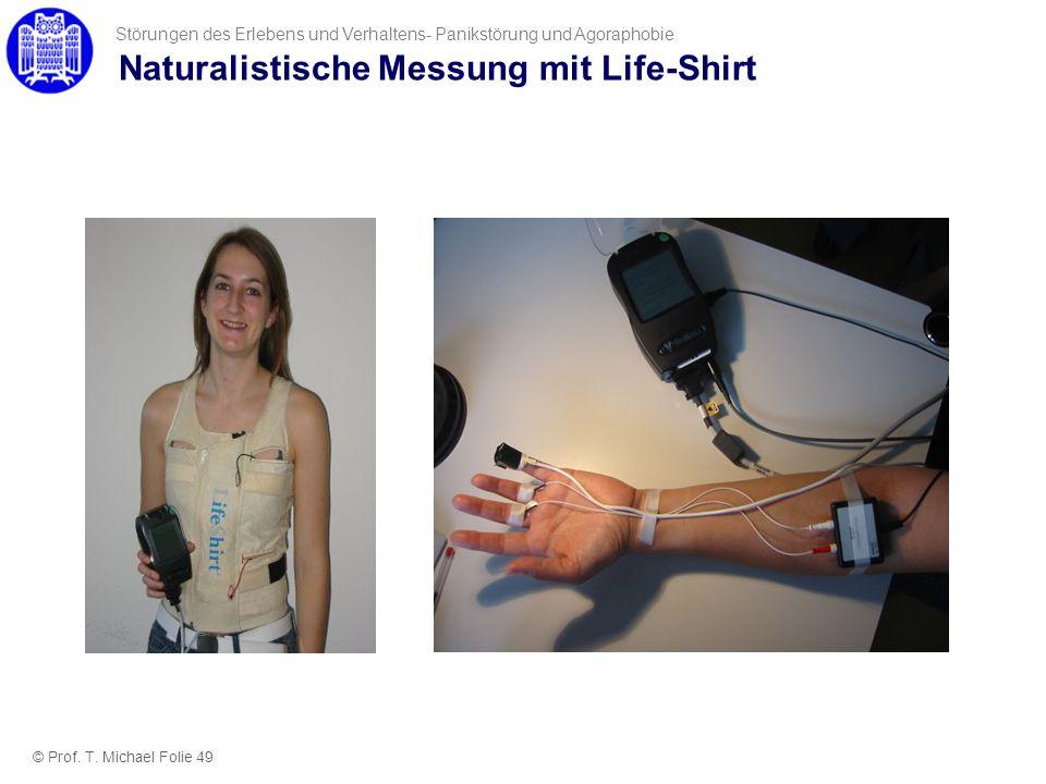 Naturalistische Messung mit Life-Shirt © Prof. T. Michael Folie 49 Störungen des Erlebens und Verhaltens- Panikstörung und Agoraphobie