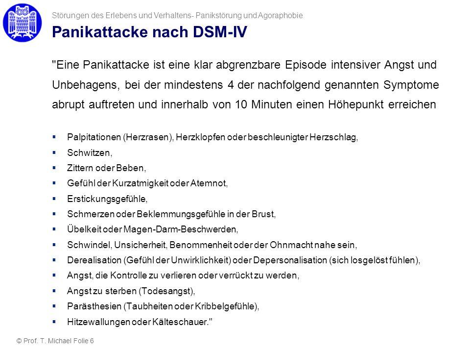 Panikattacke nach DSM-IV
