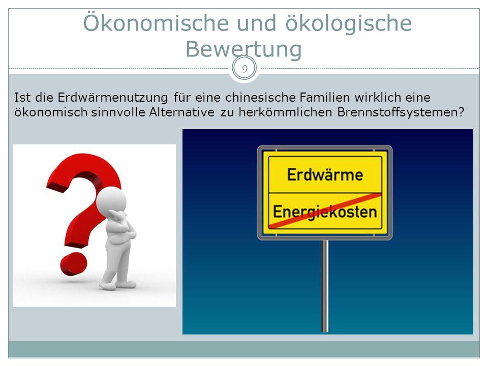 Ökonomische und ökologische Bewertung 10 Gas-Brennwertheizung oder Wärmepumpenheizung.