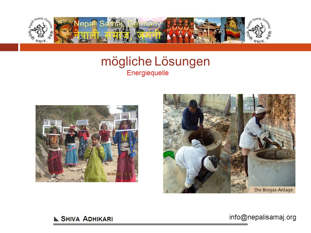 info@nepalisamaj.org Energiequelle mögliche Lösungen