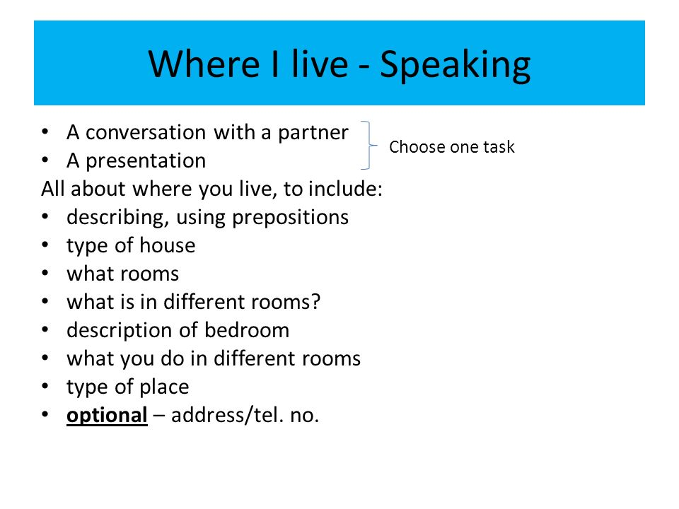 Suggested questions Wo wohnst du.– Where do you live.