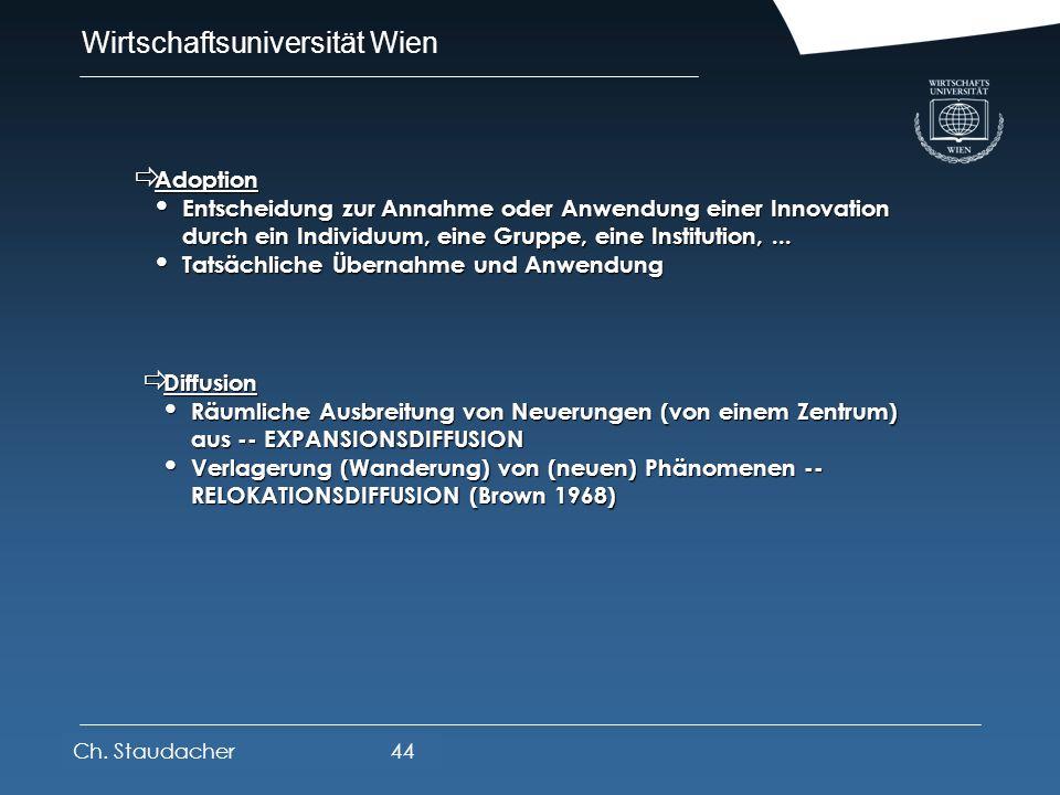 Wirtschaftsuniversität Wien Platz für Logos oder Links Innovations- und Diffusionstheorie Innovations- und Diffusionstheorie Innovationen Innovationen