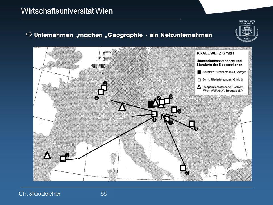 Wirtschaftsuniversität Wien Platz für Logos oder Links Wirtschaftseinheiten im Raumsystem Unternehmen machen Geographie - ein Flächenunternehmen z.B.: