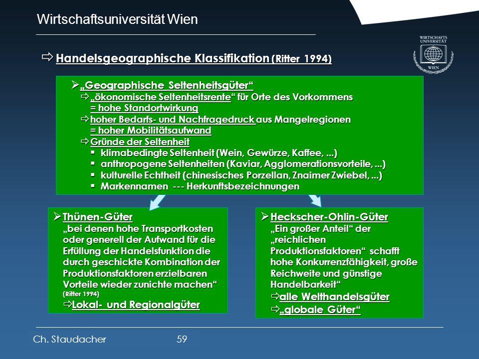 Wirtschaftsuniversität Wien Platz für Logos oder Links Wirtschaftsgeographische Güterklassifikationen Wirtschaftsgeographische Güterklassifikationen g
