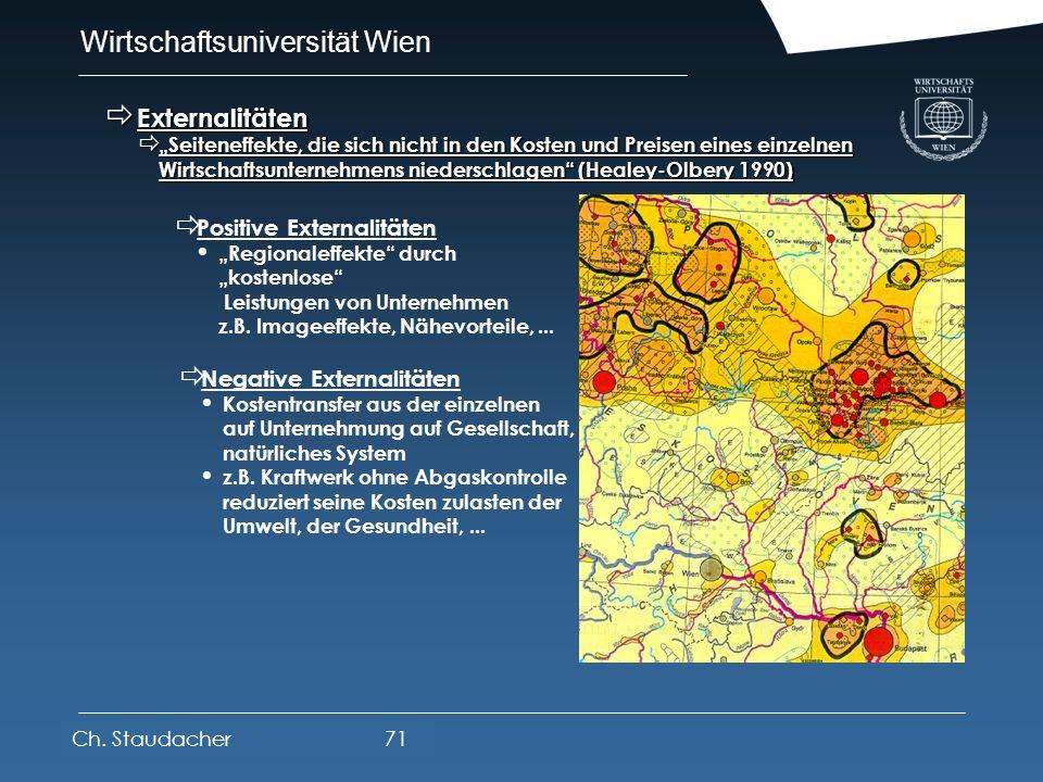 Wirtschaftsuniversität Wien Platz für Logos oder Links Systematik räumlicher Wirkungen Systematik räumlicher Wirkungen Ch. Staudacher70 Wirkungs- eben