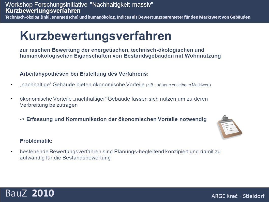 BauZ 2010 Workshop Forschungsinitiative