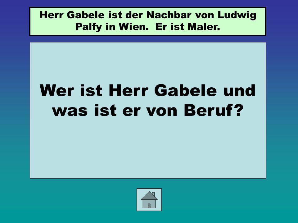 Wer ist Irene Gerlach? Sie ist Ludwigs Freundin.