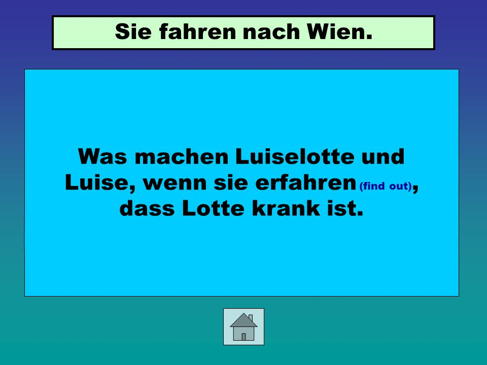 Was wollen Lotte und Luise von den Eltern als Geburtstagsgeschenk (S.56)? Lotte und Luise wollen, dass sie immer zusammenbleiben dürfen.