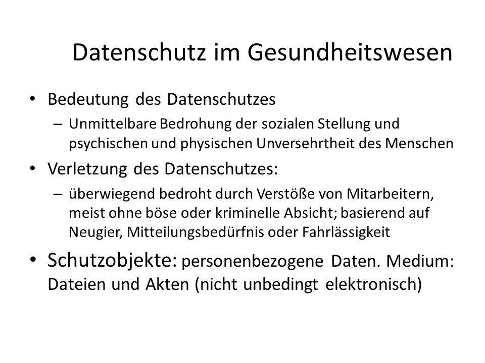 Anonymisierung direkter Personenbezug: Identität bestimmbar (z.B.