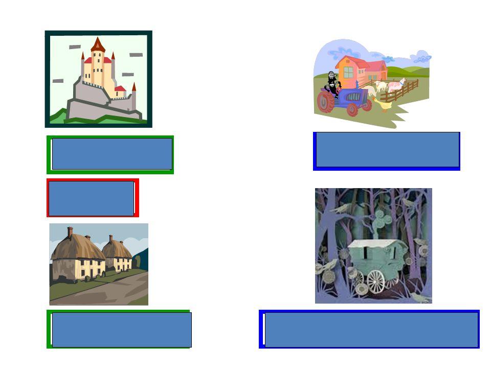 einer Burg einem Schloss einem Bauernhof einem Häuscheneinem Zigeunerwohnwagen