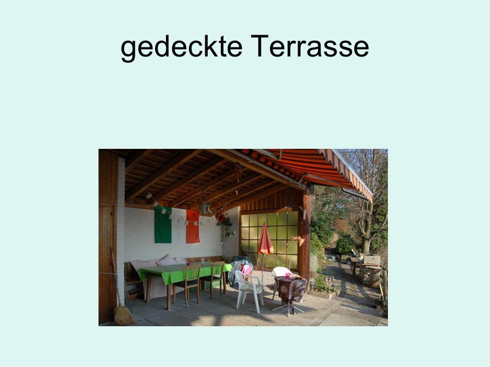 gedeckte Terrasse