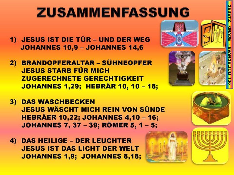 GESETZ – GNADE - EVANGELIUM 130