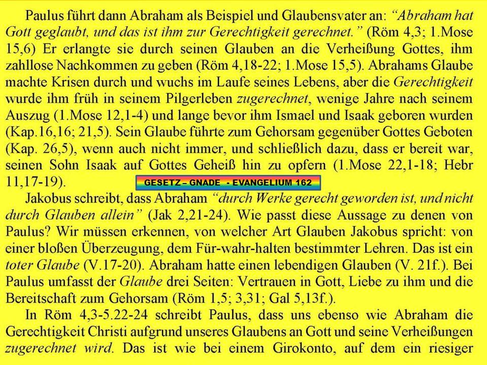 GESETZ – GNADE - EVANGELIUM 162