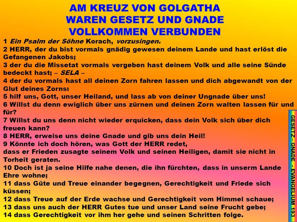1 Ein Psalm der Söhne Korach, vorzusingen.