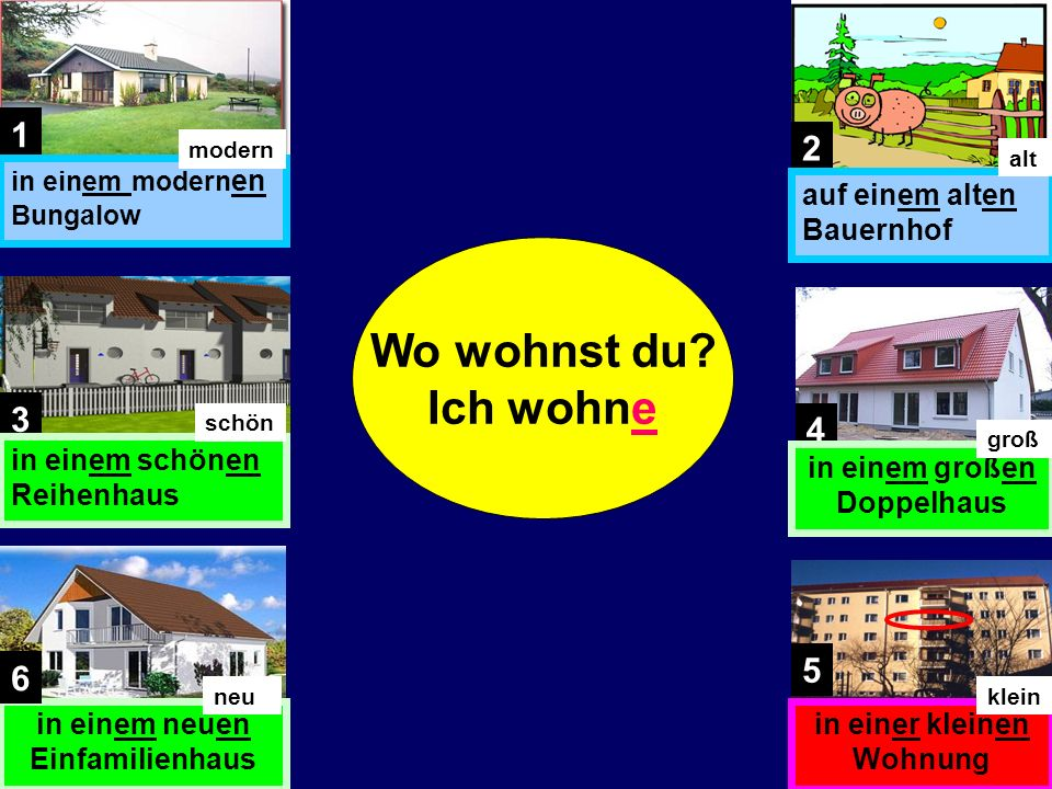 If you now add an adjective like groß in front of the noun that you are describing, the adjective endings for this Dative case are always en when the