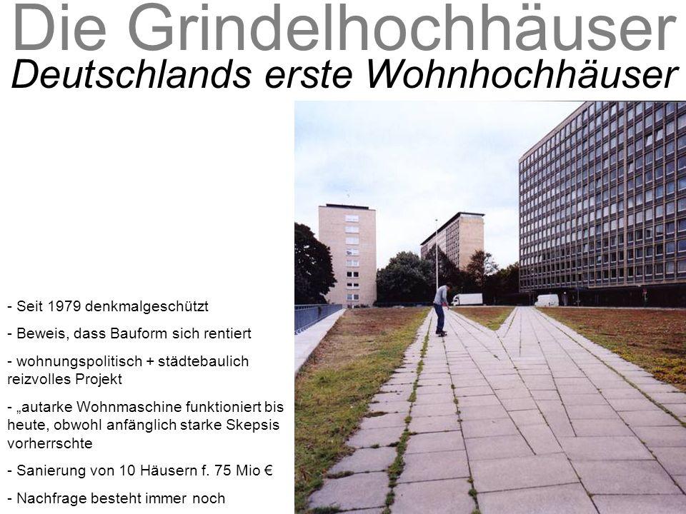Die Grindelhochhäuser Deutschlands erste Wohnhochhäuser - Seit 1979 denkmalgeschützt - Beweis, dass Bauform sich rentiert - wohnungspolitisch + städte