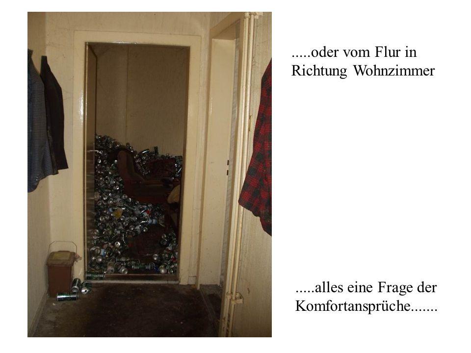.....oder vom Flur in Richtung Wohnzimmer.....alles eine Frage der Komfortansprüche.......