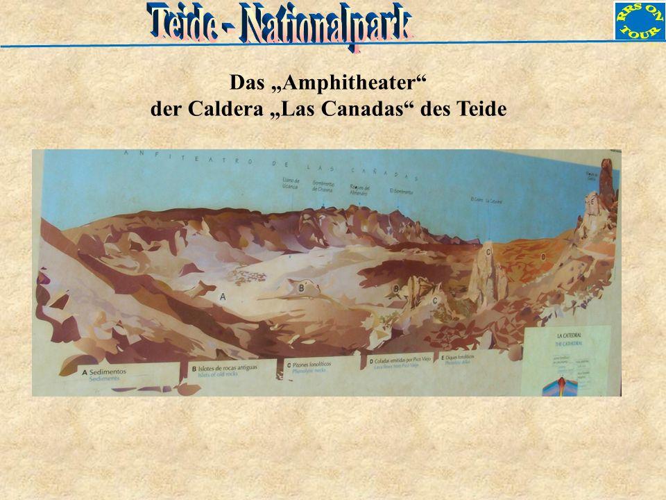 Das Amphitheater der Caldera Las Canadas des Teide