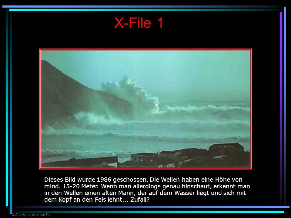 D.C.s Mysteriöses und Fun X-File 1 Dieses Bild wurde 1986 geschossen. Die Wellen haben eine Höhe von mind. 15-20 Meter. Wenn man allerdings genau hins