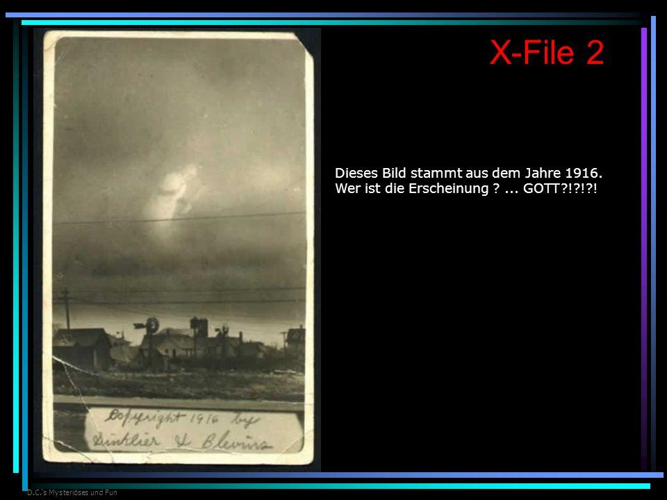 D.C.s Mysteriöses und Fun X-File 2 Dieses Bild stammt aus dem Jahre 1916. Wer ist die Erscheinung ?... GOTT?!?!?!