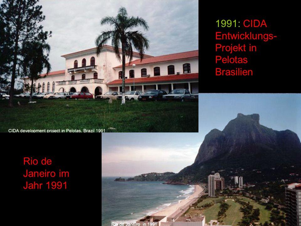1991: CIDA Entwicklungs- Projekt in Pelotas Brasilien Rio de Janeiro im Jahr 1991