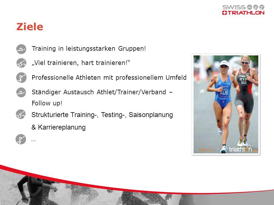 Ziele Training in leistungsstarken Gruppen.Viel trainieren, hart trainieren.