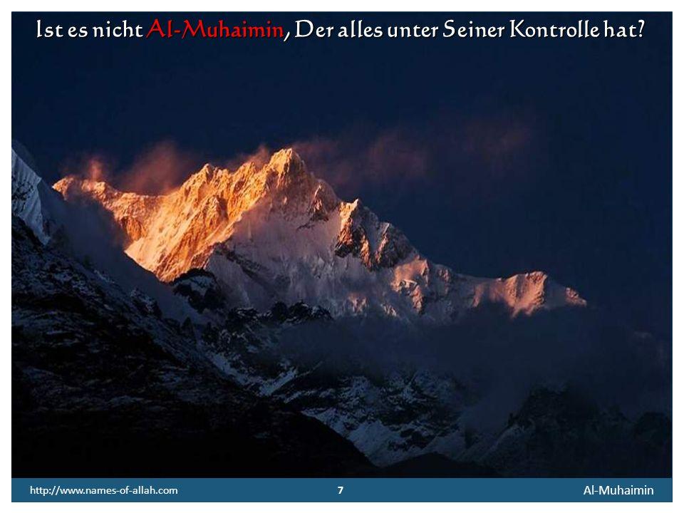 6 Al-Muhaimin 6 http://www.names-of-allah.com FREIER TEXT Immer als ich Pech hatte oder immer als ich versagt habe, dachte ich: Unglück ist ein böses