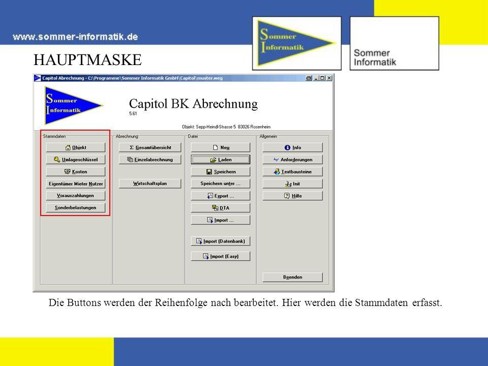 HAUPTMASKE Die Ergebnisse können Einzel oder als Gesamtübersicht gedruckt werden.
