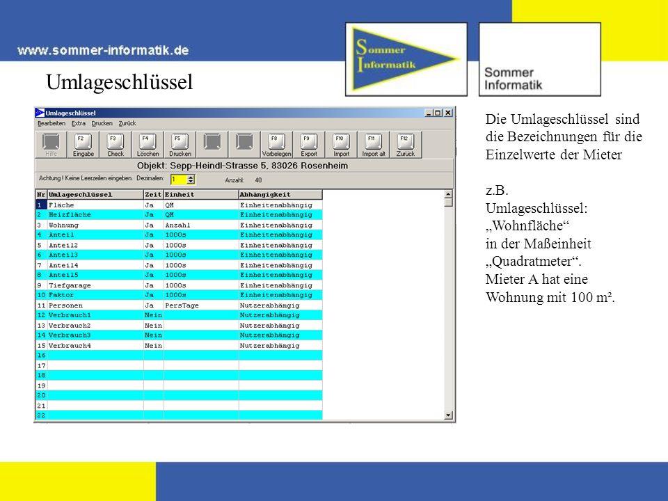 Einzelabrechnung drucken Dieser Mieter ist am 30.6.2004 ausgezogen.