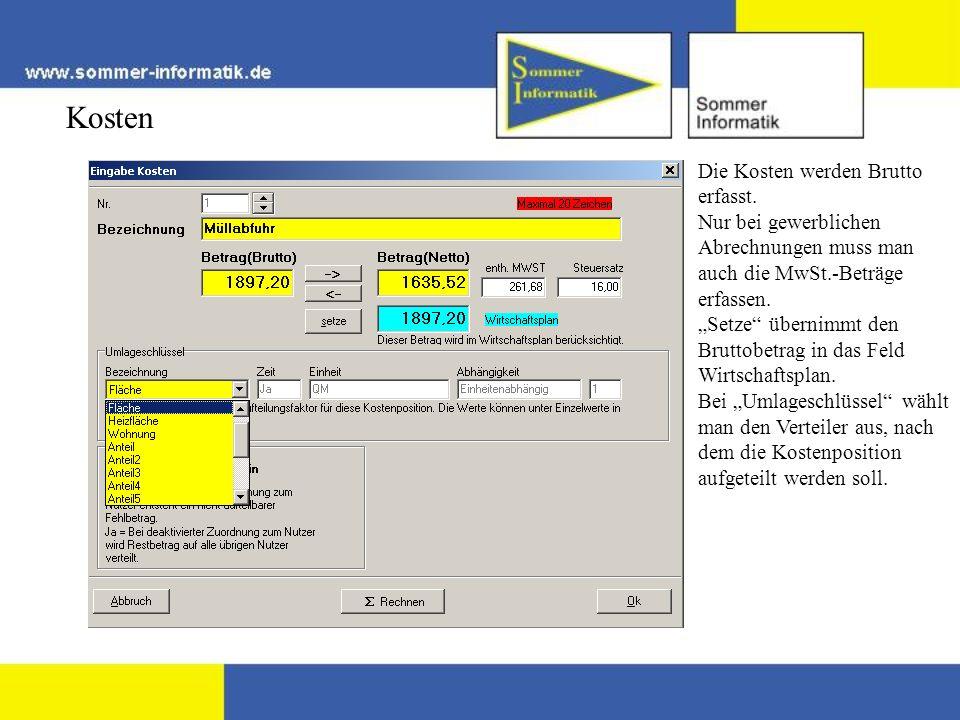 Textbausteine Die Textbausteine können ergebnisabhängig eingegeben werden.