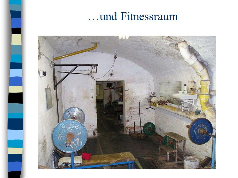 …und Fitnessraum