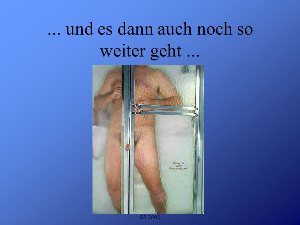 Detlef Krasemann DHV Speyer SS 2002...und selbst wenn die Rettung nahe scheint, alles Scheiße ist...