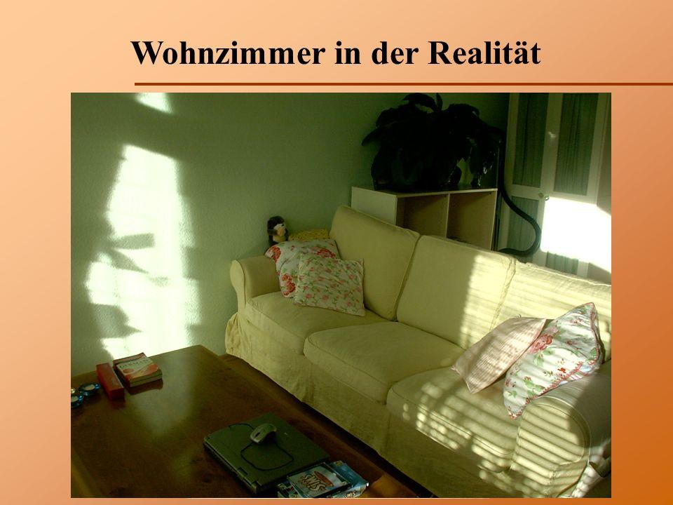 Wohnzimmer in der Realität