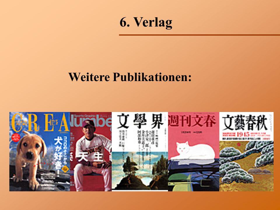 6. Verlag Weitere Publikationen: