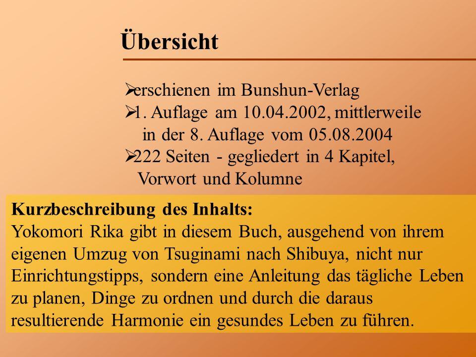 Übersicht erschienen im Bunshun-Verlag 1. Auflage am 10.04.2002, mittlerweile in der 8.