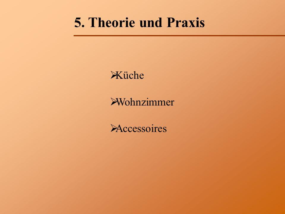 5. Theorie und Praxis Küche Wohnzimmer Accessoires