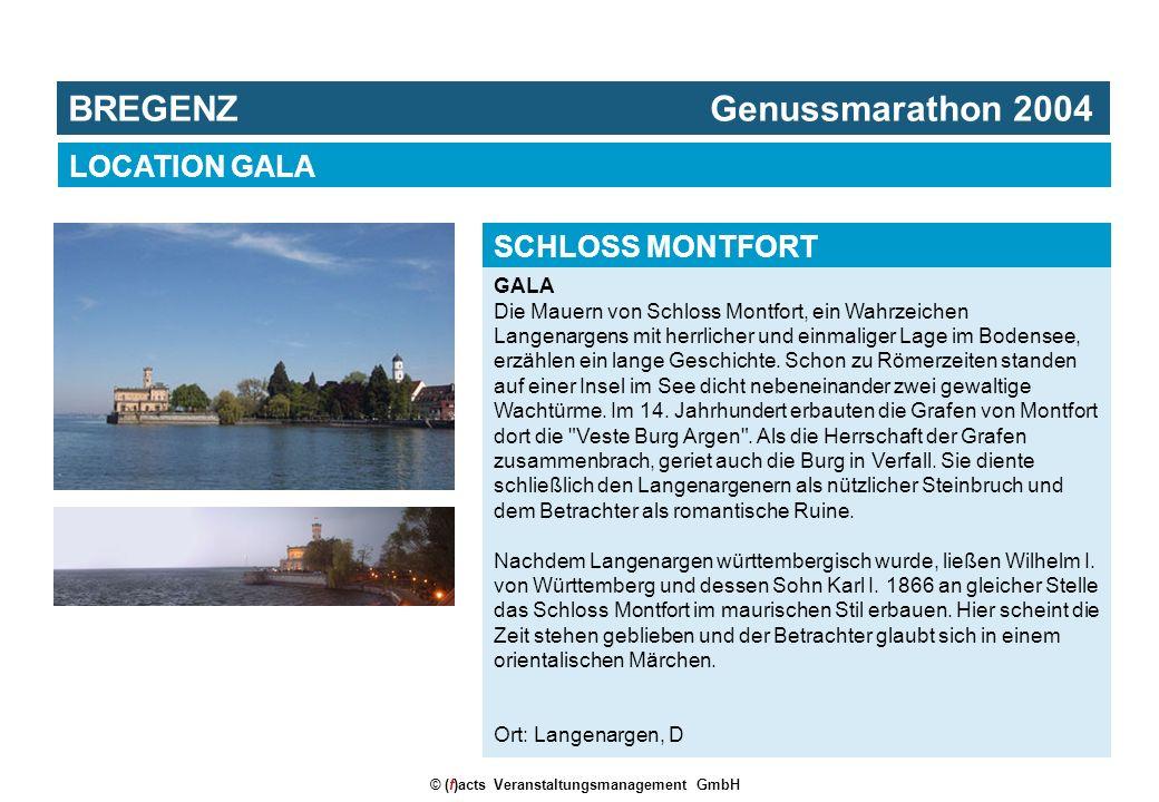 © (f)acts Veranstaltungsmanagement GmbH GALA Die Mauern von Schloss Montfort, ein Wahrzeichen Langenargens mit herrlicher und einmaliger Lage im Bodensee, erzählen ein lange Geschichte.