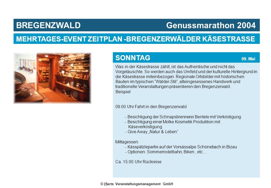 © (f)acts Veranstaltungsmanagement GmbH Was in der Käsestrasse zählt, ist das Authentische und nicht das Vorgetäuschte. So werden auch das Umfeld und