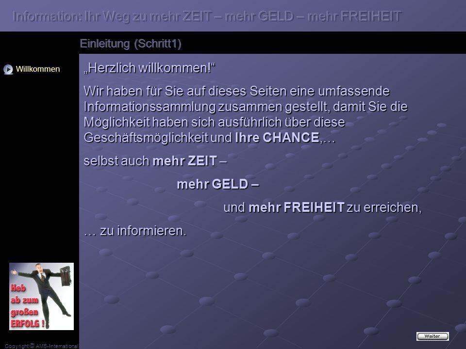 Copyright © AMS-International Herzlich willkommen.