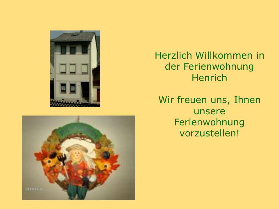 Herzlich Willkommen in der Ferienwohnung Henrich Wir freuen uns, Ihnen unsere Ferienwohnung vorzustellen!