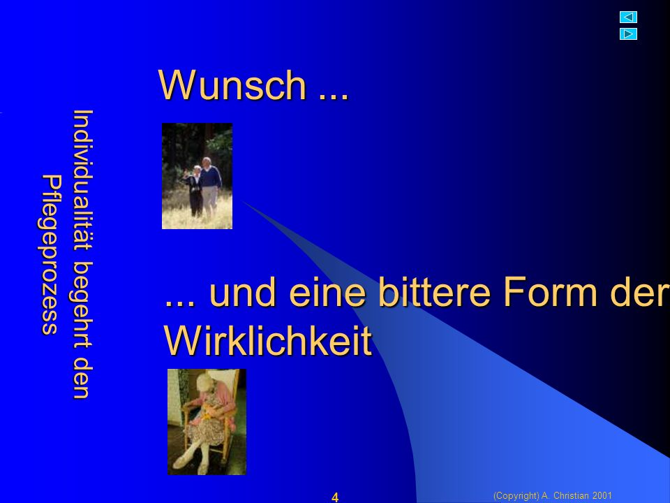 (Copyright) A. Christian 2001 4 Wunsch......