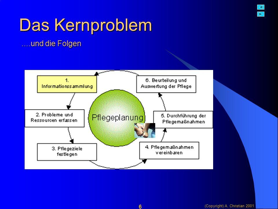 (Copyright) A. Christian 2001 6 Das Kernproblem....und die Folgen